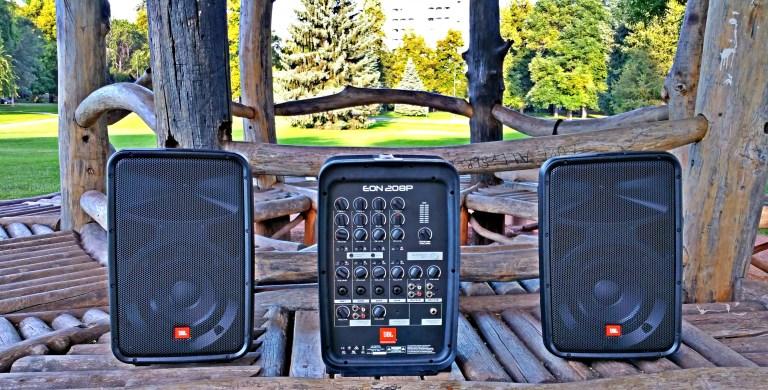JBL EON208P Portable Sound System Source: https://bustedwallet.com/jbl-eon208p-300w-portable-sound-system-tech-review/
