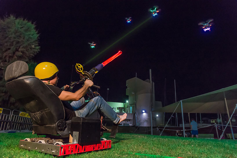 Someone Made A Real Life Space Invaders With Actual Drones And Lasers