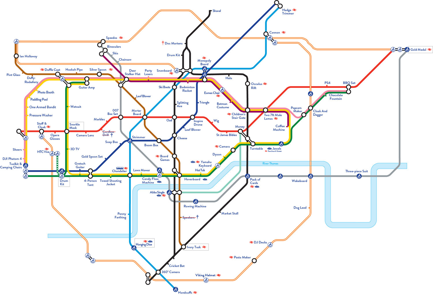 Fat Lama: The Tube Map