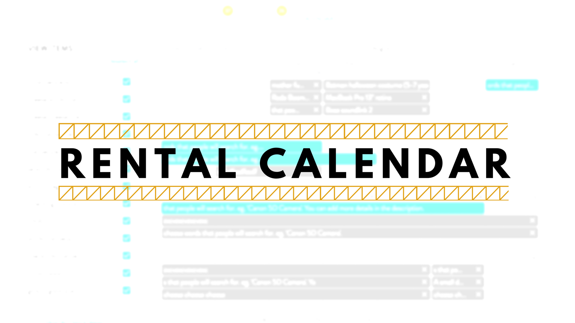 Your New Rental Calendar